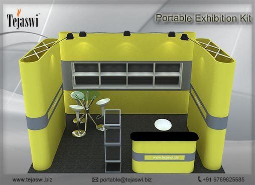 4 meter x 3 meter Portable exhibition kit 1 side Open_431S7