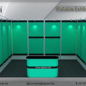 4 meter x 3 meter Portable exhibition kit 1 side_431S-1