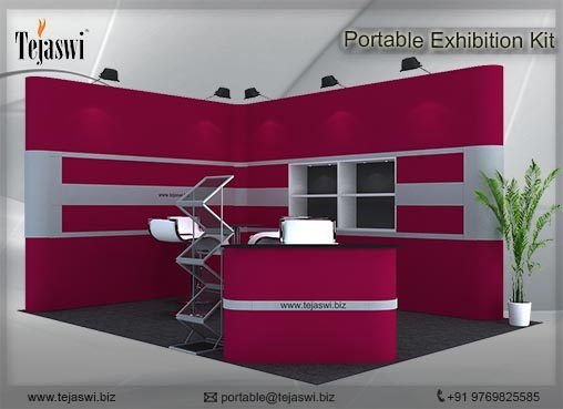 4 meter x 3 meter Portable exhibition kit 2 side Open_432S-8