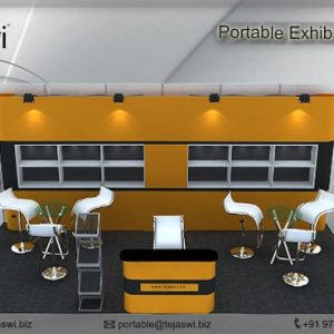 6 Meter x 3 Meter Portable Exhibition Kit 3 side open_633S-4