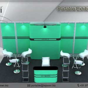 6 Meter x 3 Meter Portable Exhibition Kit4 side open_633S-1