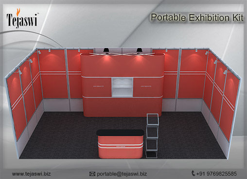 6 meter x 3 meter Portable exhibition kit 1 side Open_631S-2