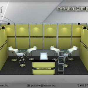 6 meter x 3 meter Portable exhibition kit 1 side Open_631S-3
