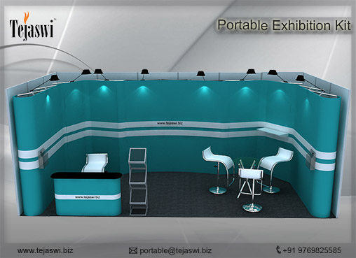 6 meter x 3 meter Portable exhibition kit 1 side Open_631S-6