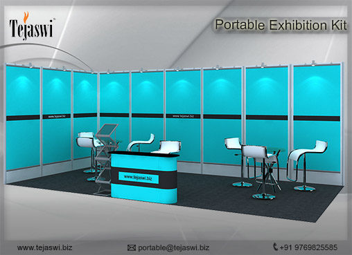 6 meter x 3 meter Portable exhibition kit 2 side Open_632S-1