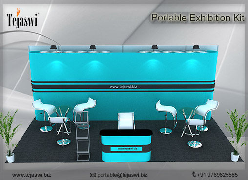 6 meter x 3 meter Portable exhibition kit 3 side _633S-2