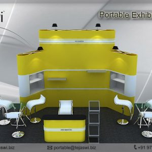 6 meter x 3 meter portable exhibition kit 4 Side Open_634S-3
