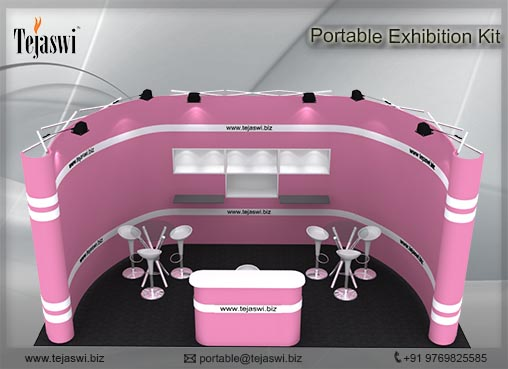 6 meter x 3 meter Portable Exhibition kit_1 side open_631S-7