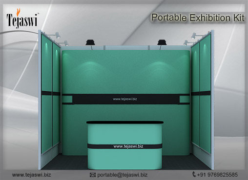 2 meter x 3 meter Portable Exhibition Kit 1 Side Open_231S-2