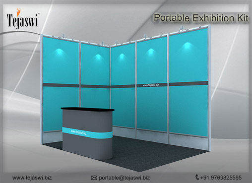2 meter x 3 meter Portable Exhibition Kit 2 Side Open_232S-1