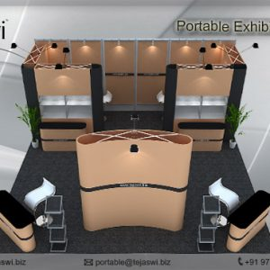 6 Meter x 3 Meter Portable Exhibition Kit 3 side open_663S-2