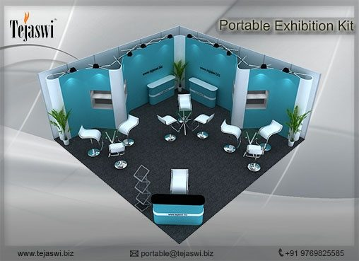 6 Meter x 6 Meter Portable Exhibition Kit 2 side open_662S-2