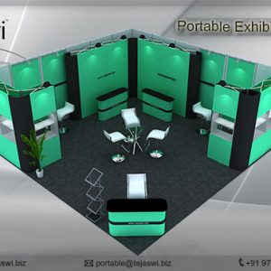 6 Meter x 6 Meter Portable Exhibition Kit 2 side open_662S-3
