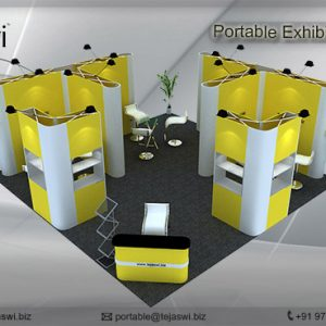 6 Meter x 6 Meter Portable Exhibition Kit 4 side open_664S-4