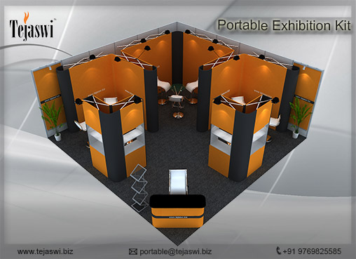 6 Meter x 6 Meter Portable Exhibition Kit two side open_662S-4