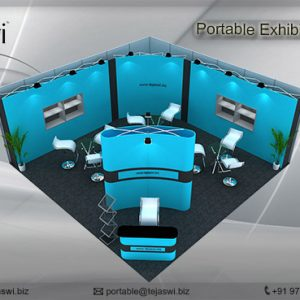6 Meter x 6 Meter Portable Exhibition Kit_two side open_662S-1