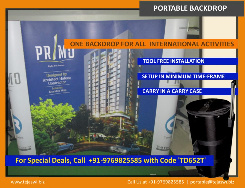 Reusable Portable Backdrop for Property Realestate IndustryTejaswi Display