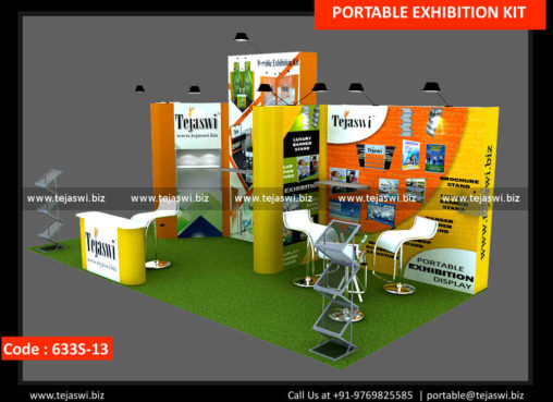 3 Sides Open Exhibition Stand Space