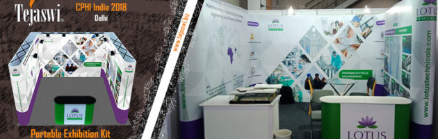 Portable Exhibition Kit for Lotus at CPHI India Pharma Expo